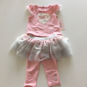 Juicy Couture Heart Top & Skeggings Size 3-6m